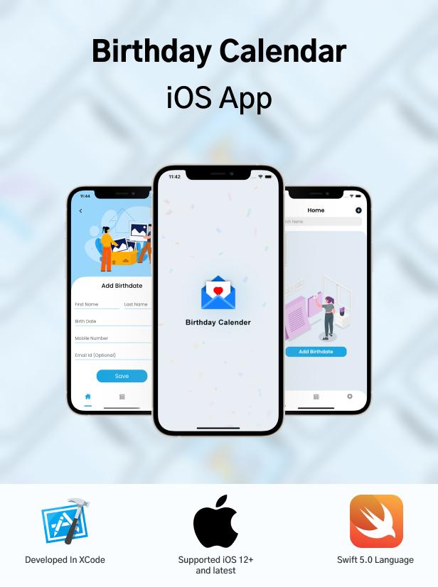 Birthday Calendar iOS App