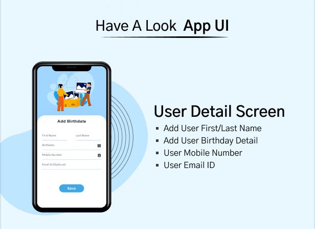 Birthday Calendar User Detail Screen